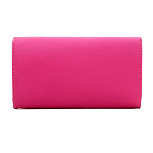 Ladies Bag Evening Envelope Prom Handbag Leather Red Large Wine Wedding UNYU Clutch Womens Shoulder qTXfywY
