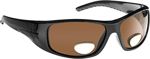 Fisherman Eyewear Polar View Bifocal Sunglasses with Brown Polarized Lens, Black - Fishing With Sunglasses Magnifiers Polarized
