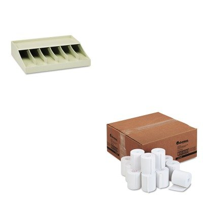 KITMMF210470089UNV42300 - Value Kit - Universal 1-Ply Cash Register/Point of Sale Roll (UNV42300) and MMF Bill Strap Rack (MMF210470089)