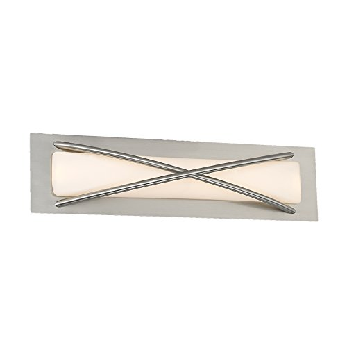 WAC Lighting WS-32621-BN Brushed Nickel Laced LED Wall Sconce, ()