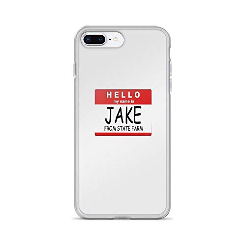 iPhone 7 Plus/iPhone 8 Plus Case Clear Anti-Scratch My Name is Jake Cover Phone Cases for iPhone 7 Plus iPhone 8 Plus -