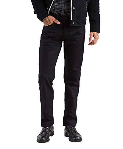 Levi's Men's 501 Original Fit Jean, Polished Black, 34x32