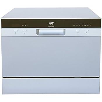 spt countertop dishwasher silver delay start led manual sd 2201s