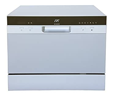 spt sd2224ds countertop dishwasher with delay start u0026 led silver