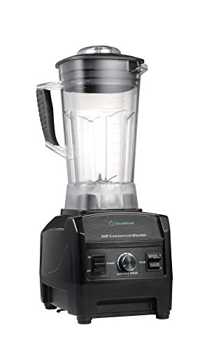 Blender By Cleanblend: Commercial Blender, Mixer, Smoothie Blender, 64 Ounce BPA Free Container, Stainless Steel 8 Blade Assembly, Variable Speed, Pulse, Tamper, Nut Milk Bag, Spatula, 3 HP 1800 Watts