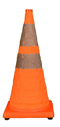 Cortina Pack N Pop Collapsible Cone with 4 LEDs, 2 Settings, 03-501-01, 28