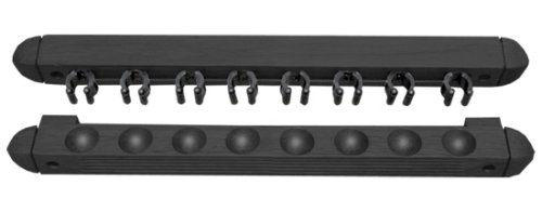 - Sterling Sports Roman-Style Two-Piece Wall Rack, Black, 8 Cue