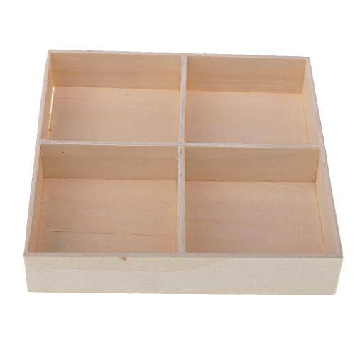 Bazzano Wood Wooden Flower Pot Succulent Planter Rustic Container Storage Box 4 ()