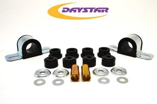 Daystar, Jeep XJ Cherokee Polyurethane Sway Bar Bushings 25mm, fits Cherokee and Comanche 1984 to 2001 2/4WD, KJ05006BK, Made in America, Black