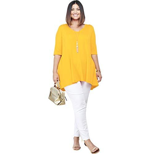 (Jessica London Women's Plus Size Fit & Flare Tunic - Sunshine Yellow, 22/24)
