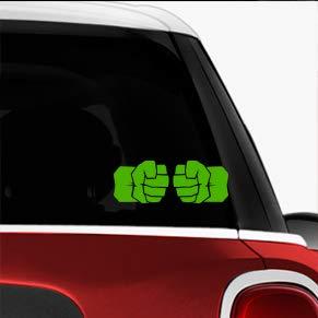 Hulk Fist Green SCI-FI/Comics/Games Automotive Decal/Bumper Sticker (Hulk Vinyl)