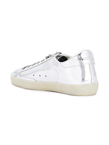 Golden Goose Sneakers Uomo G30MS590B56 Pelle Argento