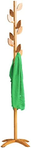 コートラックの床ソリッドウッドハンガーシンプルなラックベッドルームの洋服吊りファッション服のラック ( パターン : Leaf )