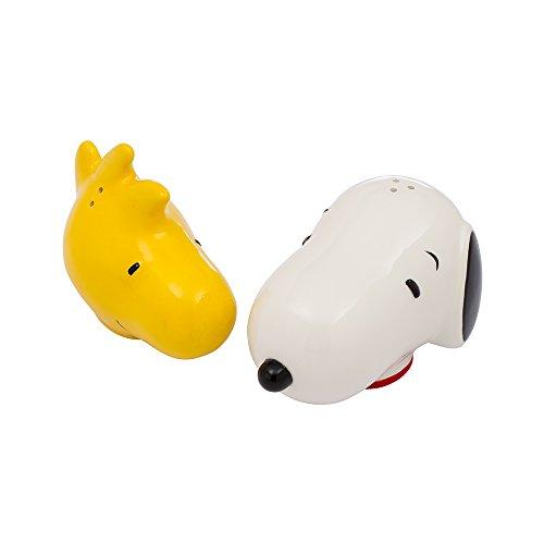 Vandor Peanuts Snoopy and Woodstock Ceramic Salt and Pepper Set (85030) -