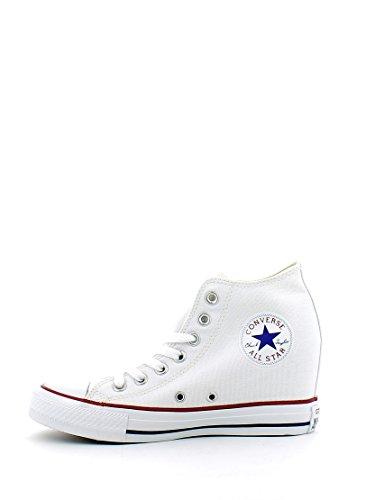 Converse All Star Lux Mid Hi - Zapatillas de cuña Unisex adulto Color blanco