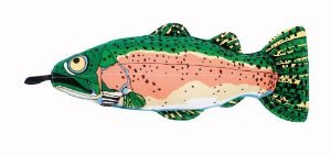 Doggy Hoots Incredible Strapping Yankers Original Rainbow Trout, My Pet Supplies