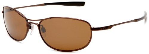 Revo Men's RE9014-01 Polarized Oval Sunglasses,Brown Frame/Bronze Lens,One - Revo Polarized Sunglasses