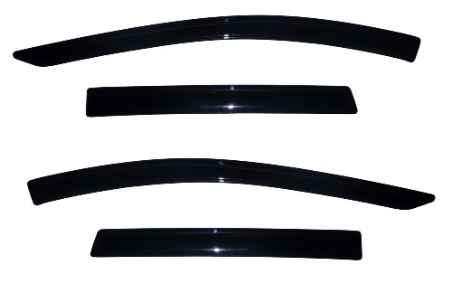 Auto Ventshade 94383 Original Ventvisor Side Window Deflector Dark Smoke, 4-Piece Set for 2013-2018 Ford Escape (Rain Guard Visors)