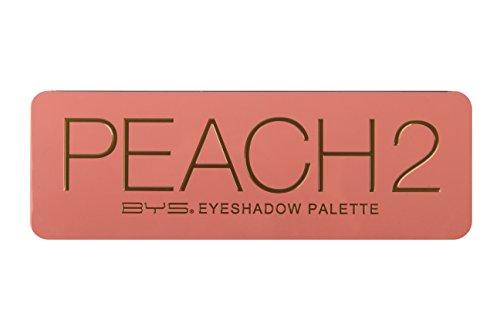 BYS Peach 2 Eyeshadow Palette Tin with Mirror Applicator 12 Matte & Metallic Shades