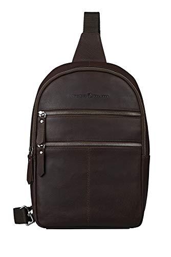 Antonio Valeria Rudy, Dark Brown Premium Leather, Crossbody-Shoulder Bag for Men & Women ()