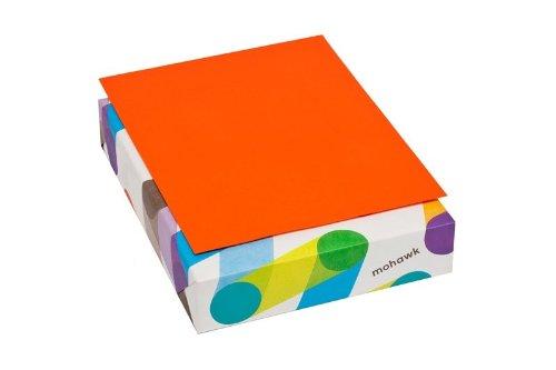 Mohawk BriteHue 24 lb/60 Vellum Text Paper, 8.5 x 11 Inch, 500 Sheets/Ream - Sold as 1 Ream, Orange -