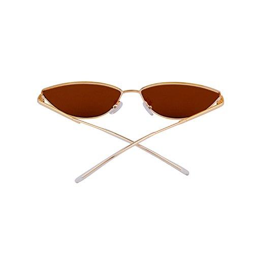pour Brown 2018 avec ADEWU de lens Gold Petites homme 1 en lunettes soleil métal monture frame wFq1a