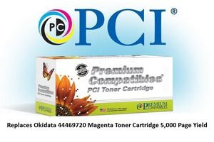 5k Pages Magenta Toner - Premium Compatibles 44469720-PCI PCI Okidata 44469720 MC561 Magenta Toner Cartridge 5K Average Page Yield