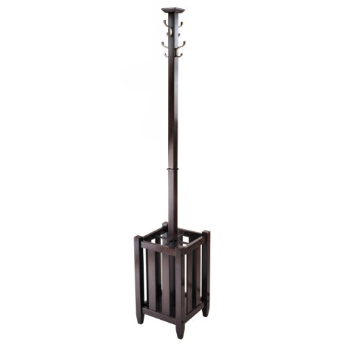 Winsome Memphis Coat Tree Hanger and Umbrella - Rack Stand Umbrella