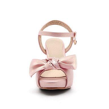 LvYuan Mujer-Tacón Robusto-Otro-Sandalias-Oficina y Trabajo Vestido Fiesta y Noche-PU-Rosa Blanco Oro Gold