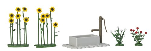 Busch 1232 Sunflowers & Roses with Pump HO Scenery Scale (Busch Pump)