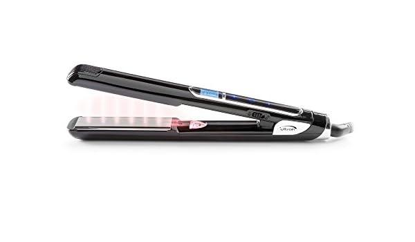 sinelco Francia Ultron Mach más plancha para el pelo negro/plateado 45 W/110 - 220 V: Amazon.es: Salud y cuidado personal