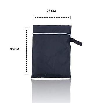 EEM Cubierta Redonda de Calidad Premium para Parrilla de Barbacoa DE 71 x 77 cm, Resistente al Agua al Aire Libre, Resistente a la Decoloración, ...