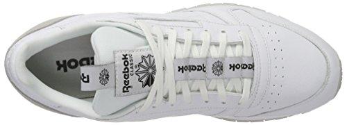 Reebok Herren Classic Leather It Sneaker Weiß (White/Skull Grey/Black)