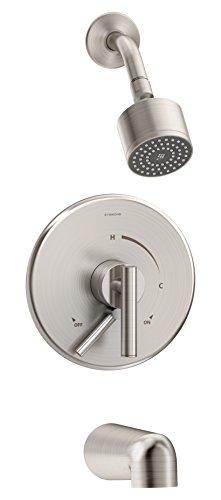 (Symmons S-3502-Cyl-B-Stn Dia Tub/Shower System, Satin Nickel)