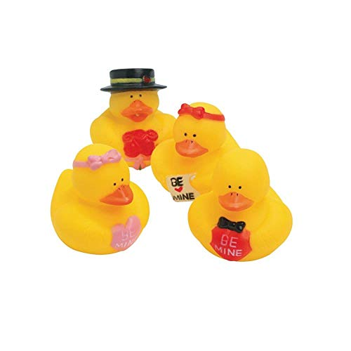- Lot Of (12) Valentine Sweetheart Rubber Ducks