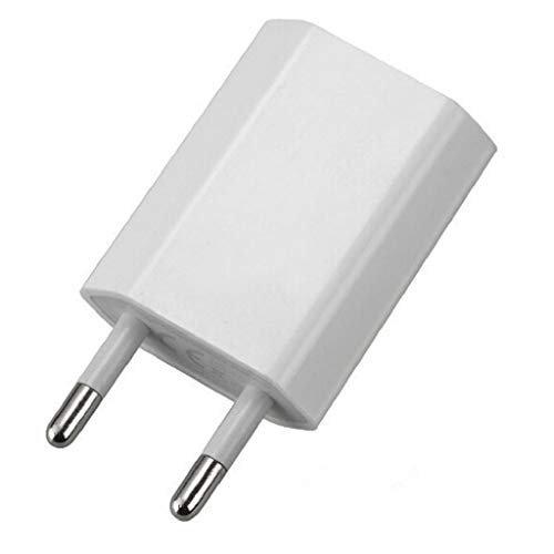 Rape Flower European USB Power Adapter EU Plug Wall Travel Charger for iPhone for Samsung S7 (White)