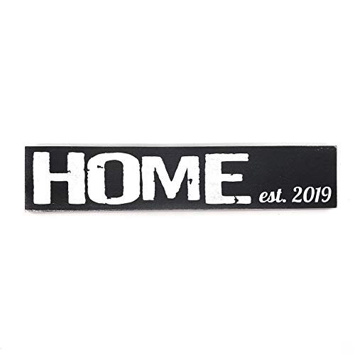 Home established 2019 Wood Sign Home Decor (black) (Signs Established Home)