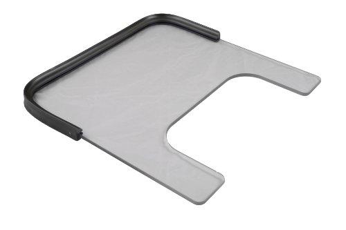 3/8 Inch Poly Wheelchair Tray, Rubber Rim