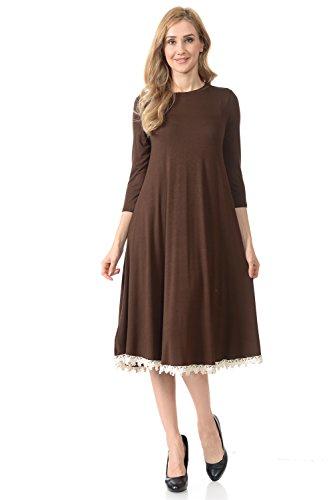 brown crochet dress - 4