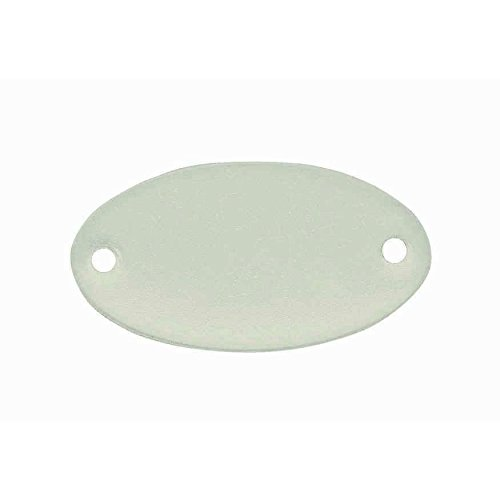 C.H. Hanson C H Hanson 1-5/32'' x 2-1/16'' Aluminum Oval Blank Metal Tag - 100 pk.