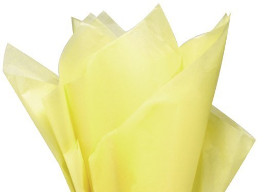 Bulk Light Pastel Yellow Tissue Paper 20 Inch x 30 Inch - 48