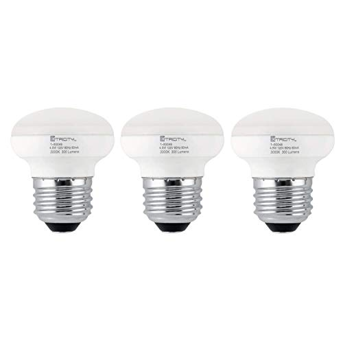 R14 LED Light Bulb, 4.5w (40w Equivalent), Dimmable, 300 Lumens, 3000k Soft White, E26 Medium Base, RoHS Compliant (Pack of 3)