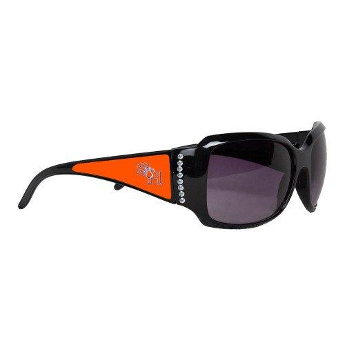 SHSU Ladies Black Rhinestone Sunglasses 'SH Paw Official Logo' by CollegeFanGear