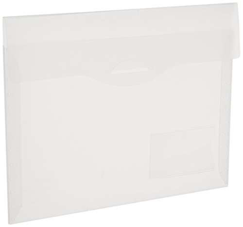 Avery Plastic File Folder (Avery Translucent Document Wallet, Letter, Poly, Clear, 1 Wallet (72278))