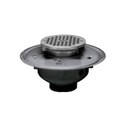 80%OFF Oatey 72283 PVC Adjustable Commercial Drain with 5-Inch Cast CHR Grate and Square Top, 3-Inch