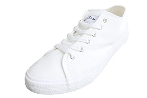 Fear0 True To Size All White Casual Canvas Sneakers Trainers Tennis Shoes For Men,White,12 D (M) US, UK 11.5. Eur 46, CM 30 (Tennis Merchandise)