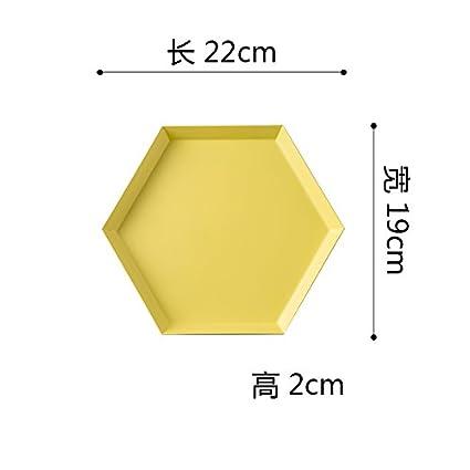 YUWANW Rombo Geométrica De Almacenamiento De Sobremesa Bandeja Metálica De Acero Inoxidable Creativa Combinación De Frutas