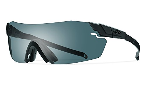 Smith Optics Elite Pivlock Echo Eyeshields Sunglass with Black Frame and Gray/Clear Ignitor ()