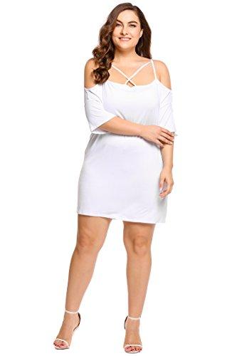 花束嬉しいです大胆不敵Zeagoo DRESS レディース US サイズ: XXXL カラー: ホワイト