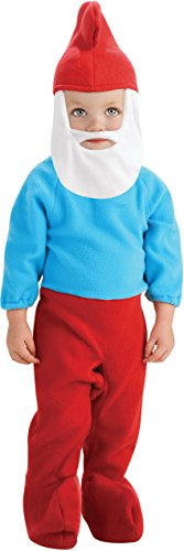 Rubie's Costume The Smurfs 2 Papa Smurf Romper and Headpiece, Red/Blue, (The Smurfs Hat Child)